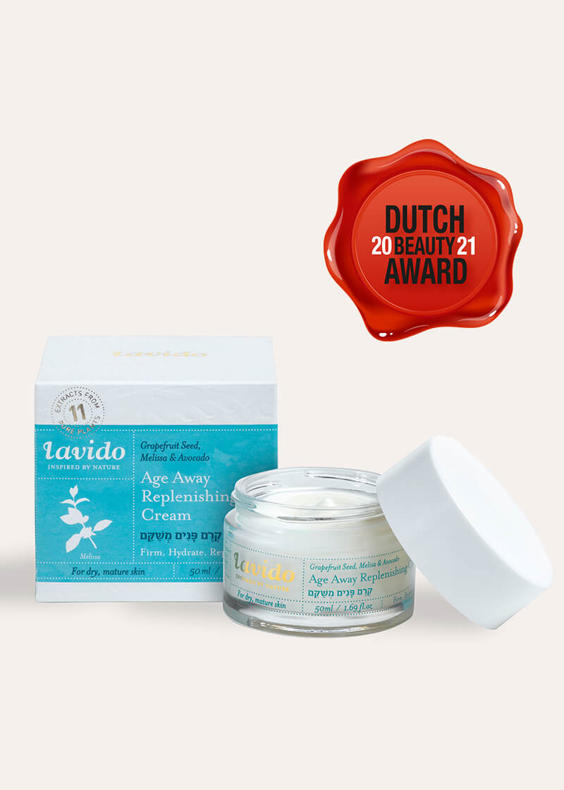 Lavido Age Away Replenishing Cream is nominated for the Dutch Beauty Awards