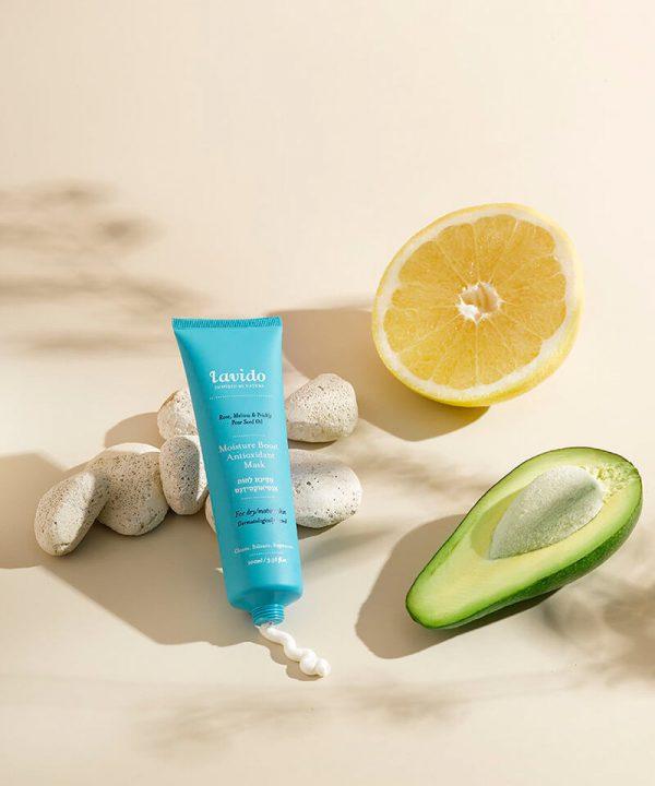 Lavido Moisture Boost Antioxidant Masker met citroenmelisse-olie