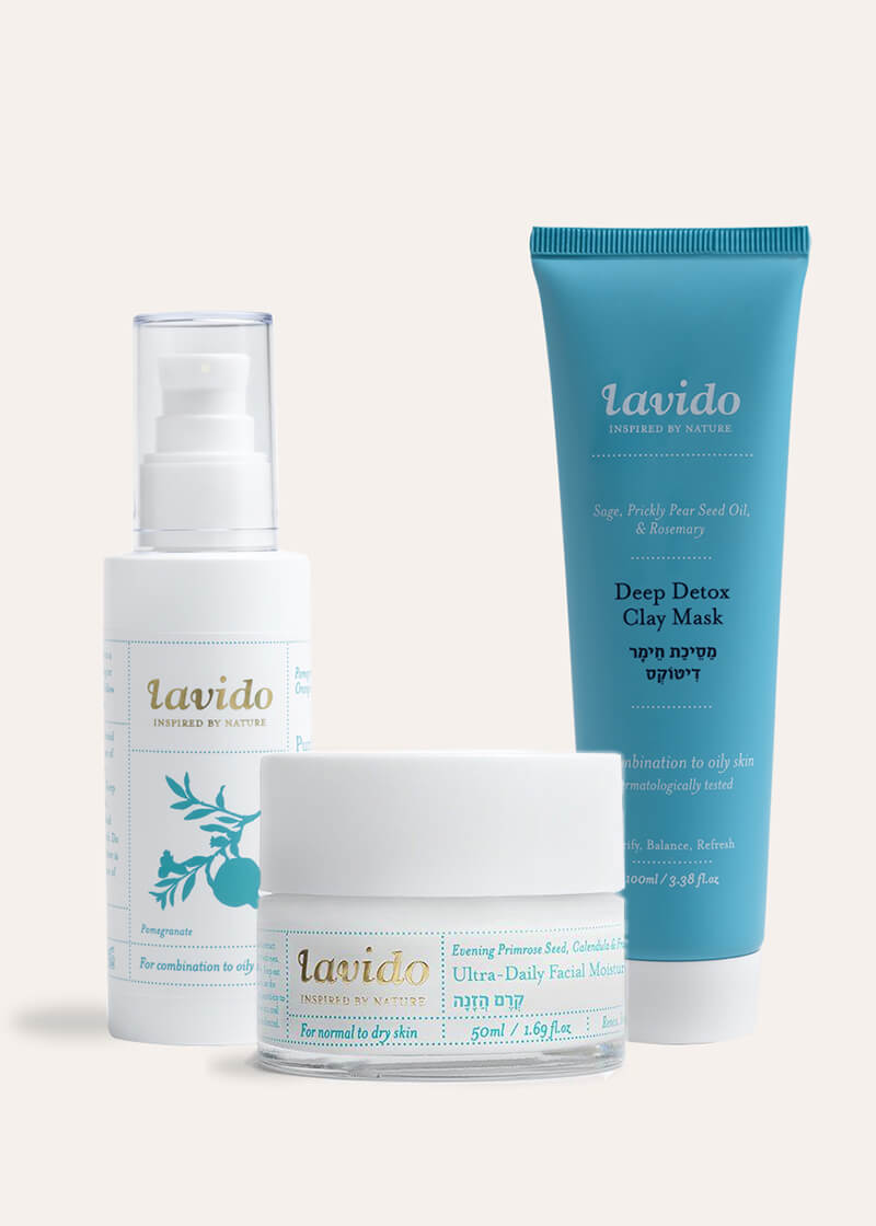 Lavido care set for oily skin